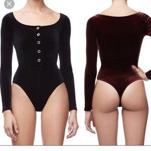 Good American velvet bodysuit
